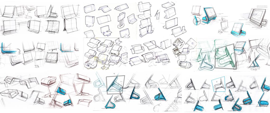 POS Machine Concept Sketching