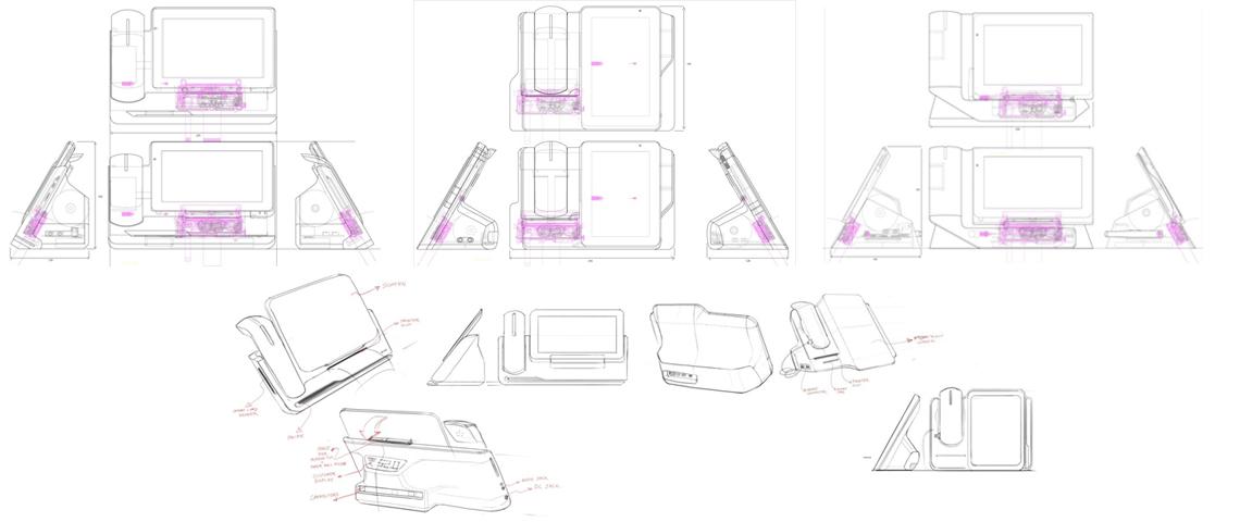 POS Machine 2D 3D Drawings