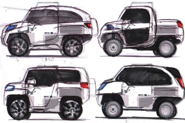 Design aketch automobile