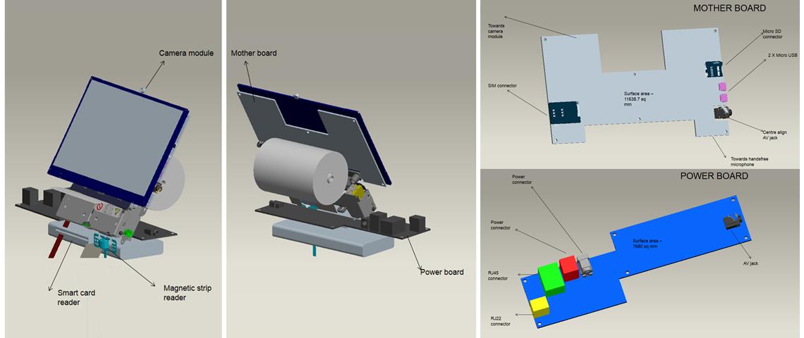 POS Machine Internal Floor 3D Design
