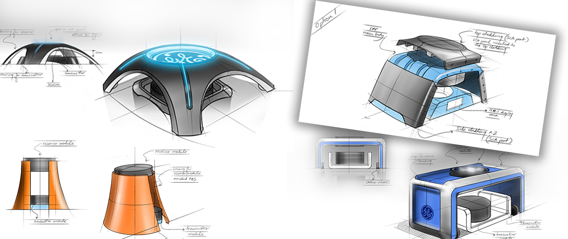 design sketch of concept