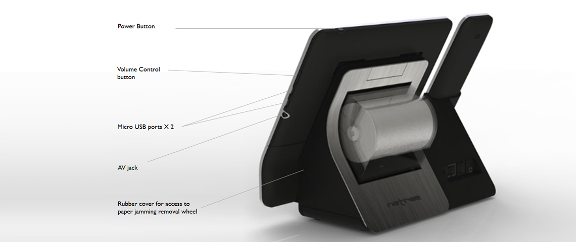 POS Machine Concept Rendering Detailing