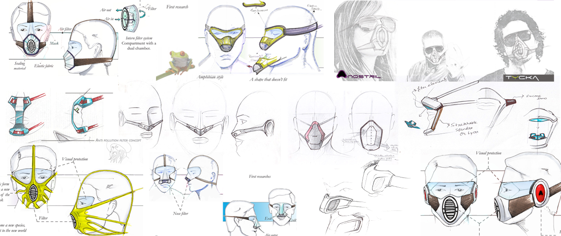 Pollution mask design ideas