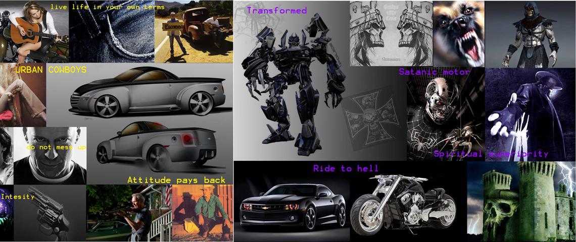 vehicle moodboard design
