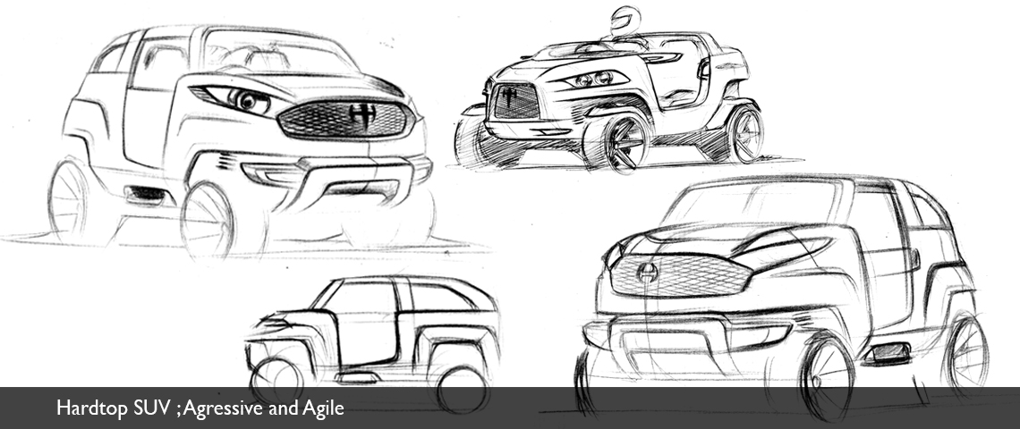 design concept sketch suv