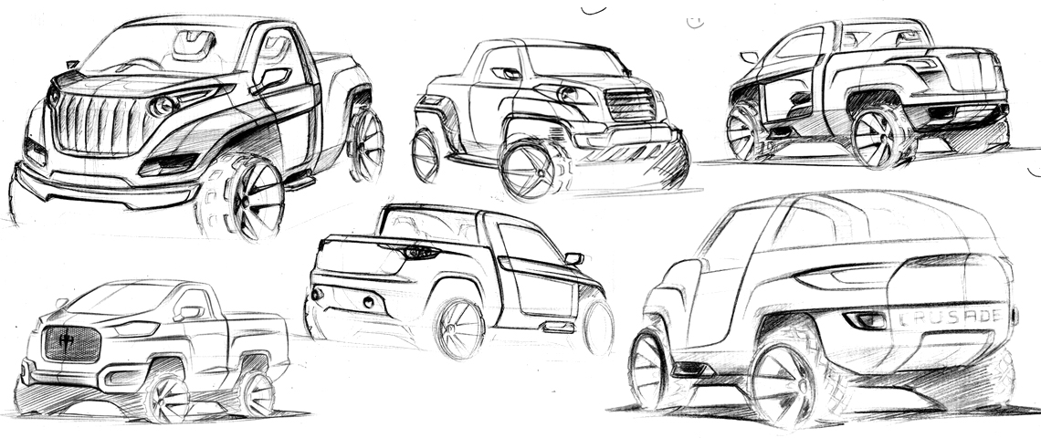 All terrain vehicle concept sketch