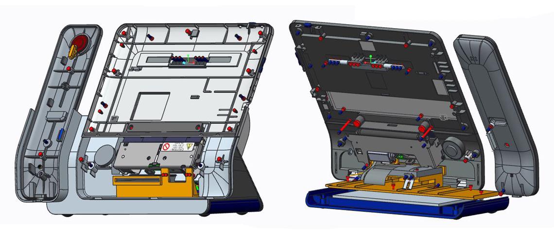 POS Machine Internal CAD Design