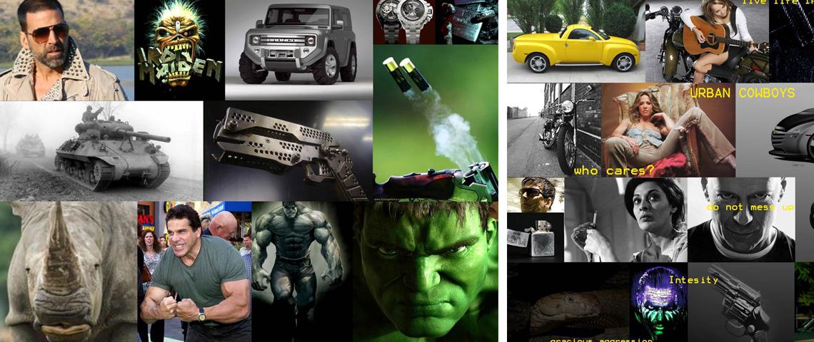 Automobile desing moodboard