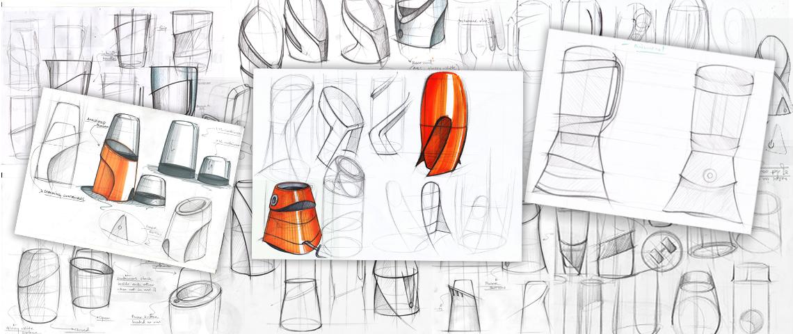 STALLION - Mixer grinder Concept Sketching
