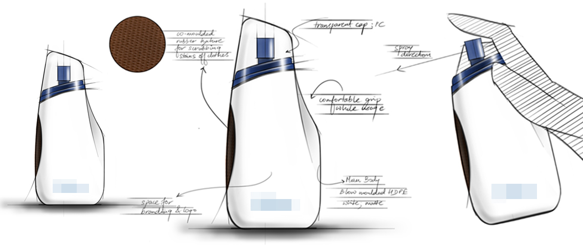 Bottle Design _Concept_Packaging Design and Sketches