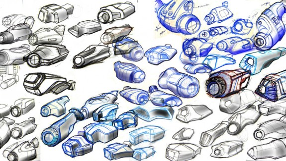 Thermal Camera Product Design Sketches
