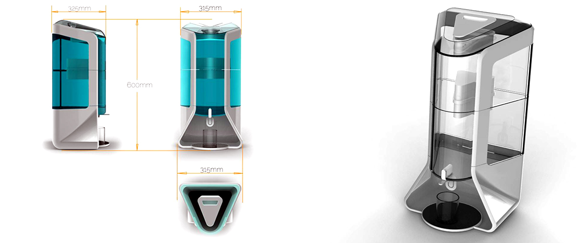 BROOKE | Gravity Water Purifier Concept 2