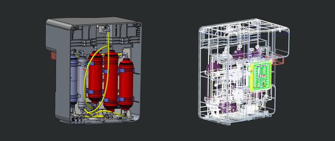 Water purifier Internal Structure Design_ CAD