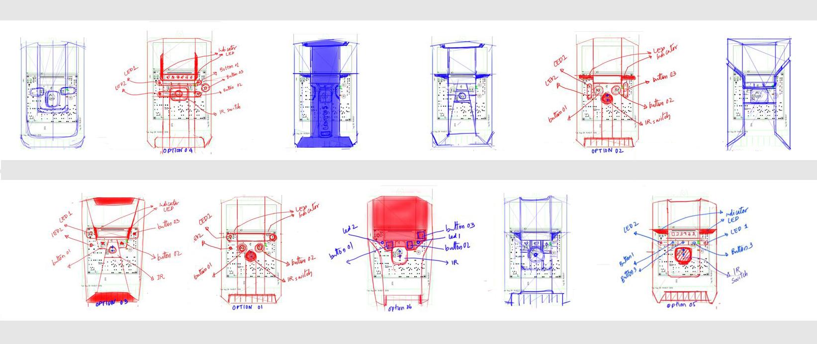Smart energy meter design sketch