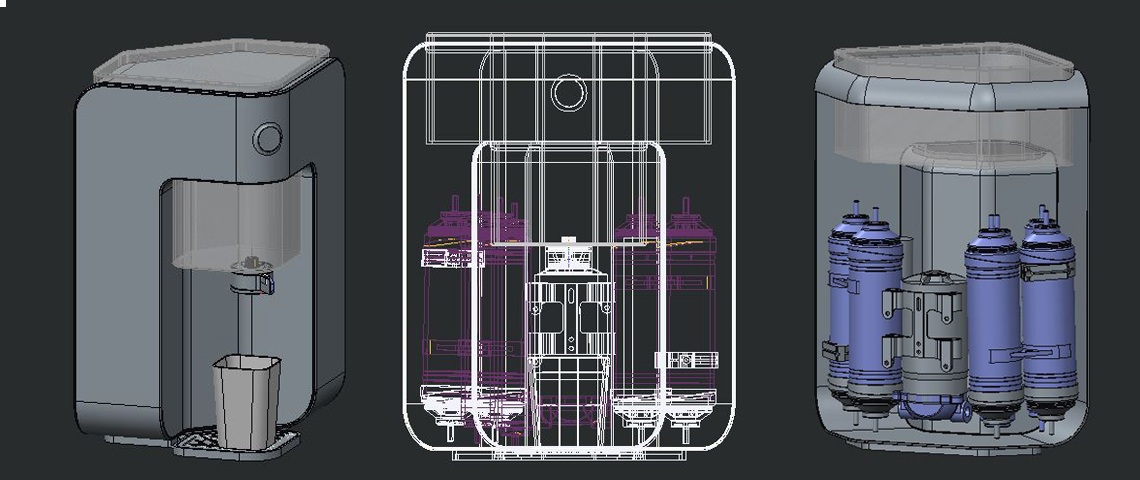 Water Purifier Design Internal Structure